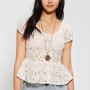 Urban Outfitters Pins&Needles Cropped Lace Top